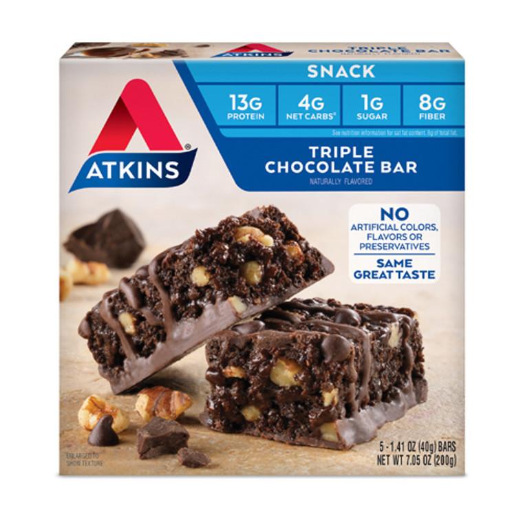 Atkins Advantage Triple Chocolate Snacks / Light Meal Bars, 5 Ea