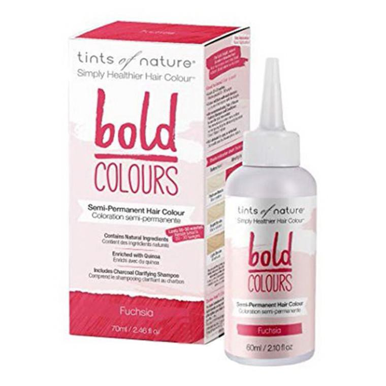 Tints of Nature Bold Colours Semi Permanent Hair Colour, Fuchsia, 2.46 Oz