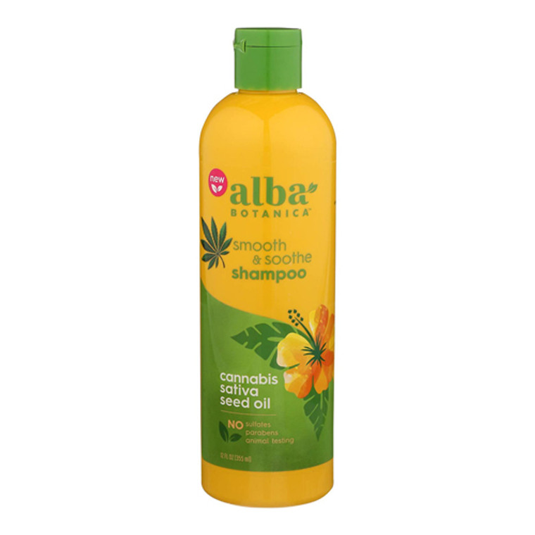 Alba Botanica Smooth and Soothe Cannabis Hair Conditioner, 12 Oz