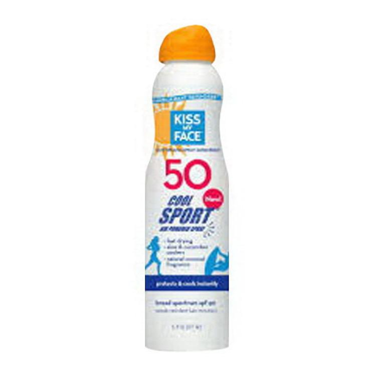 Kiss My Face Cool Sport Sunscreen Spray SPF 50, 6 Oz