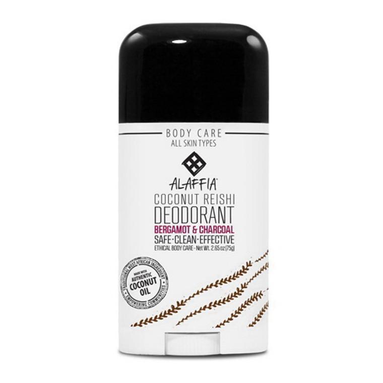 Alaffia Bergamot And Charcoal Coconut Reishi Stick Deodorant, 2.65 Oz