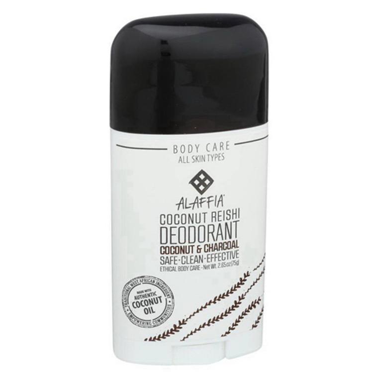 Alaffia Coconut Aand Charcoal Coconut Reishi Stick Deodorant, 2.65 Oz