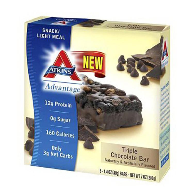 Atkins Advantage Triple Chocolate Bar, 1.4 Oz