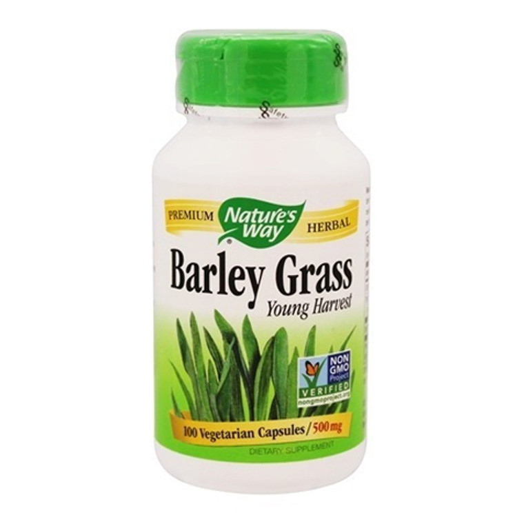 Natures Way Barley Grass Young Harvest Capsules 500mg, 100 Ea