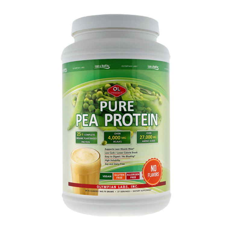 Olympian Labs Lean And Pure Pea Protein Unflavored, 29.76 Oz