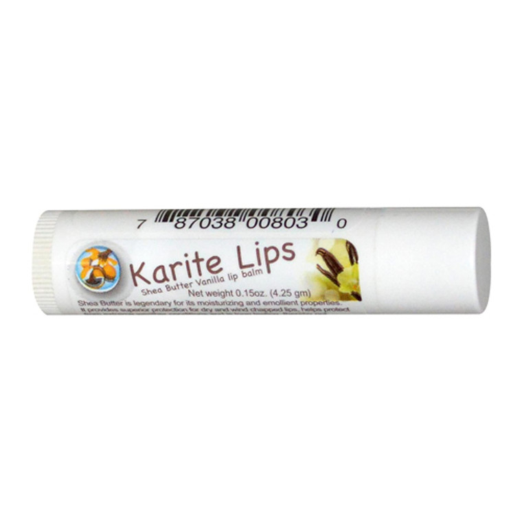 Mode De Vie Karite Lips Shea Butter And Vanilla Lip Balm, 0.15 Oz