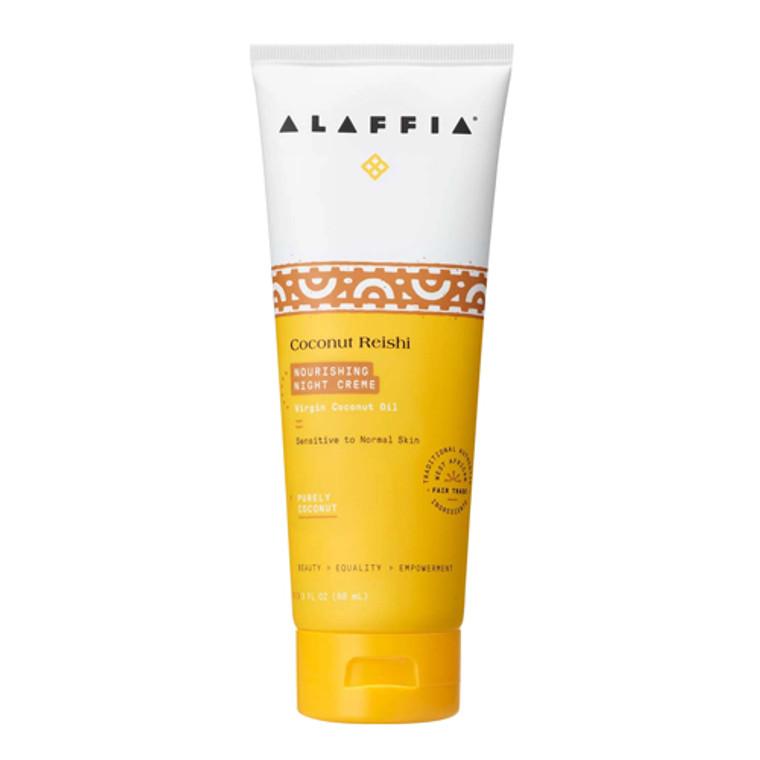Alaffia Shea Myrrh and Reishi Hydrating Coconut Night Cream, 3 Oz