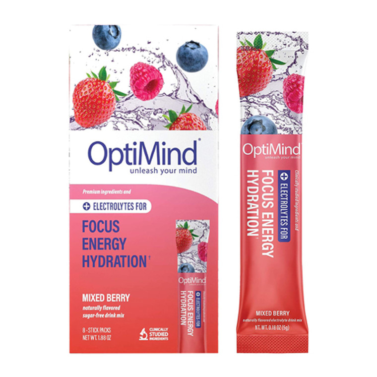 Alterna Script Optimind Mixed Berry Focus Energy Hydration Probiotic Water Booster, 0.18 Oz, 8 Ea