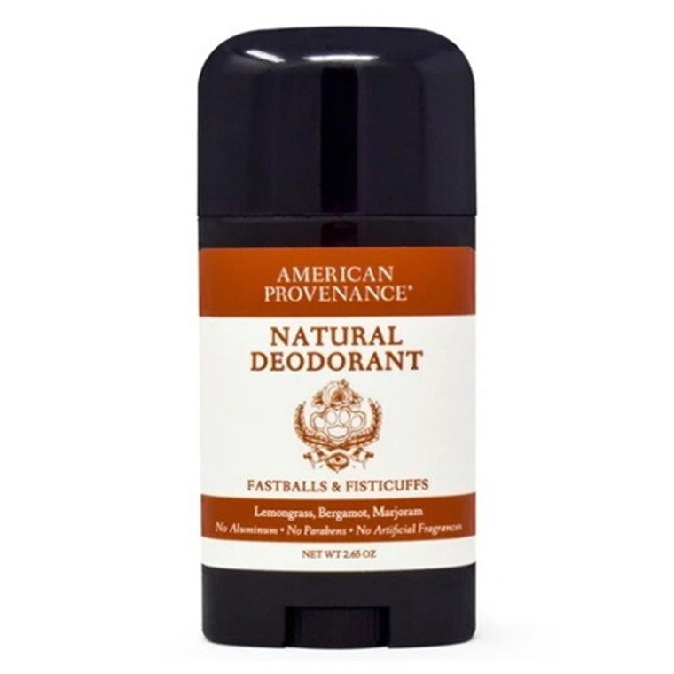 American Provenance Fastballs and Fisticuffs Deodorant, 2.65 Oz
