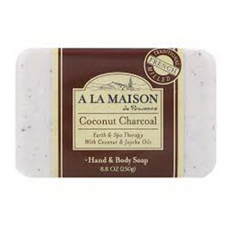 A La Maison Bar Soap, Coconut Charcoal, 8.8 Oz