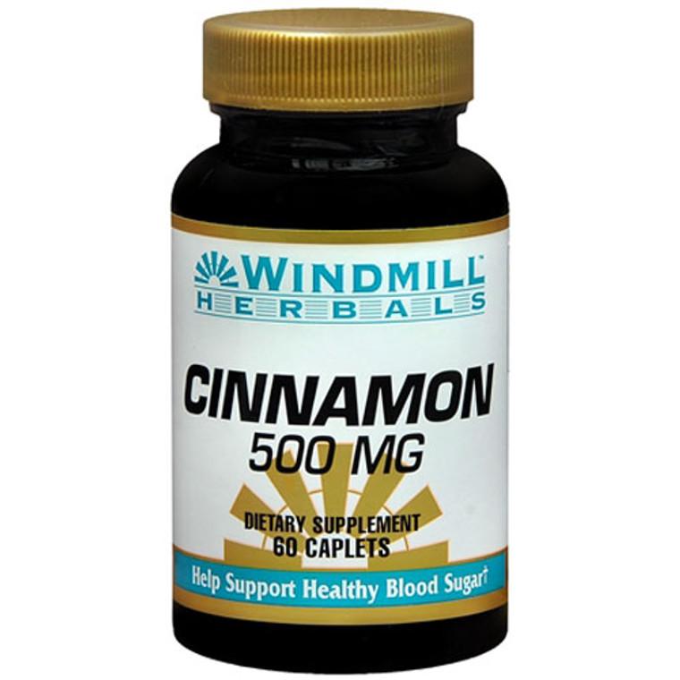 Windmill Cinnamon 500Mg Caplets To Support Healthy Blood Sugar, 60 Ea