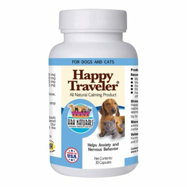 Ark Naturals Happy Traveler Calming Medicine for Dogs and Cats, 30 Ea