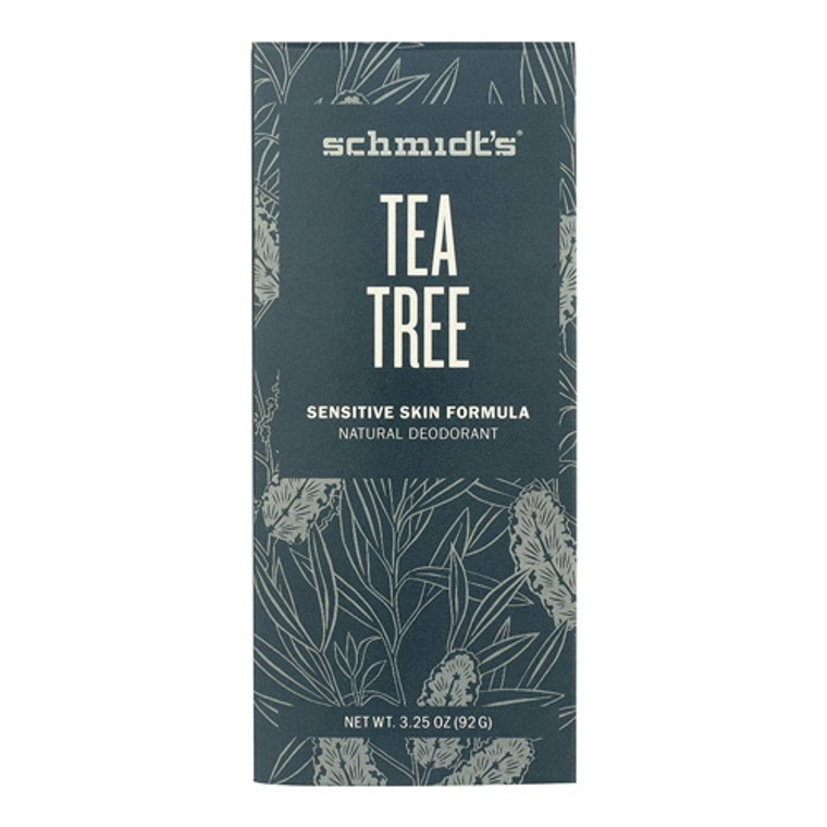 Schmidts Natural Deodorant for Sensitive Skin, Tea Tree, 3.25 Oz