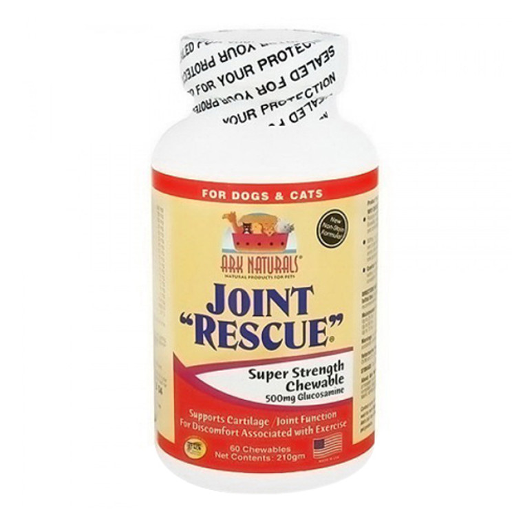 Ark Naturals Joint Rescue Dogs and Cats Super Strength Chewable Tablets, 60 Ea