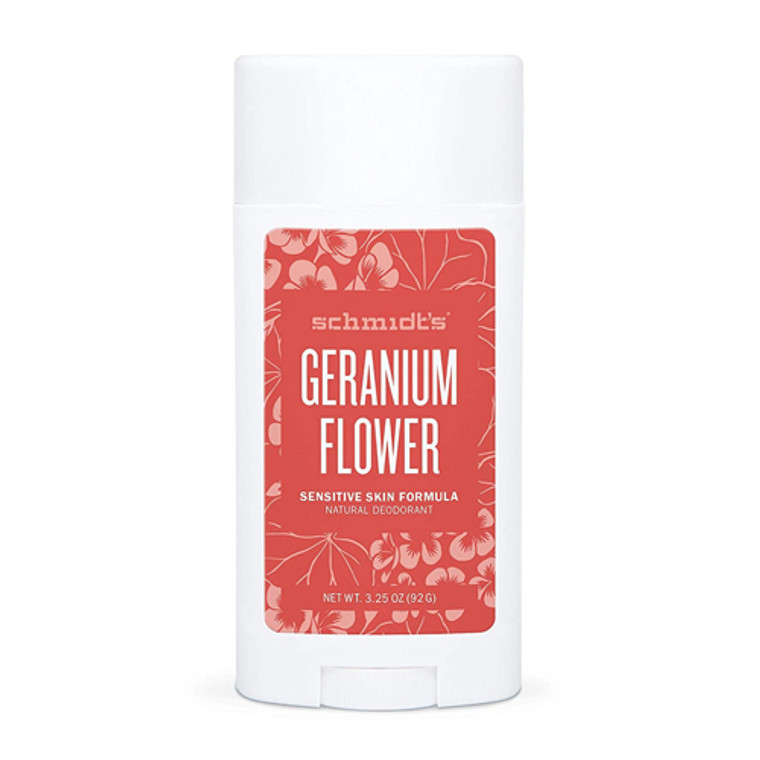 Schmidts Natural Deodorant Sensitive Skin Formula, Geranium Flower, 3.25 Oz
