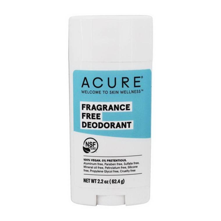 Acure Fragrance Free Stick Deodorant, 2.25 Oz