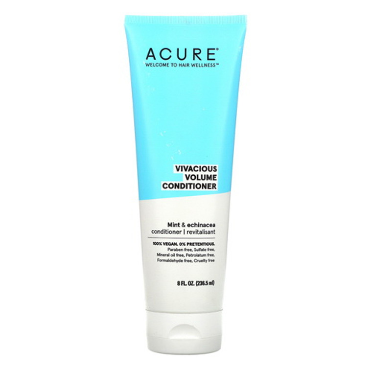 Acure Vivacious Volume Hair Conditioner with Mint and Echinacea, 8 Oz