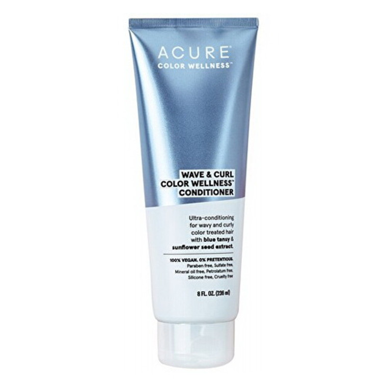 Acure Wave and Curl Color Wellness Hair Conditioner, 8 Oz