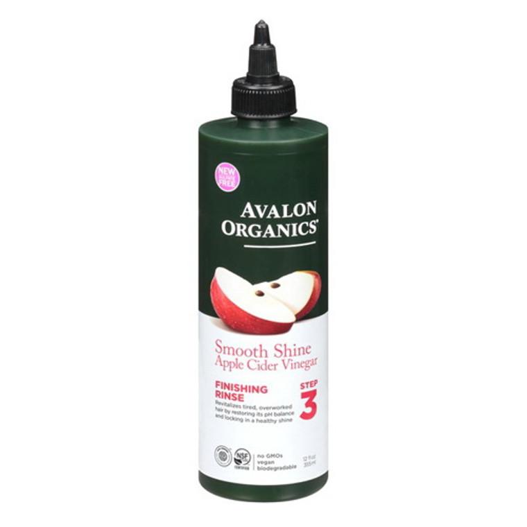 Avalon Organic Smooth Shine Apple Cider Vinegar Finishing Rinse, 12 Oz