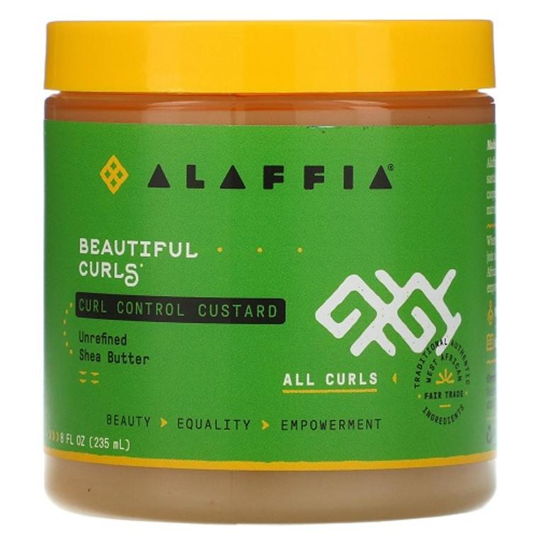 Alaffia Beautiful Curls Curl Control Custard Hair Cream, 8 Oz
