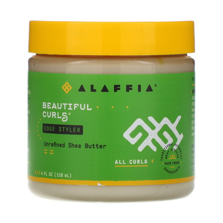 Alaffia Beautiful Curls Edge Styler All Curls Hair, 4 Oz