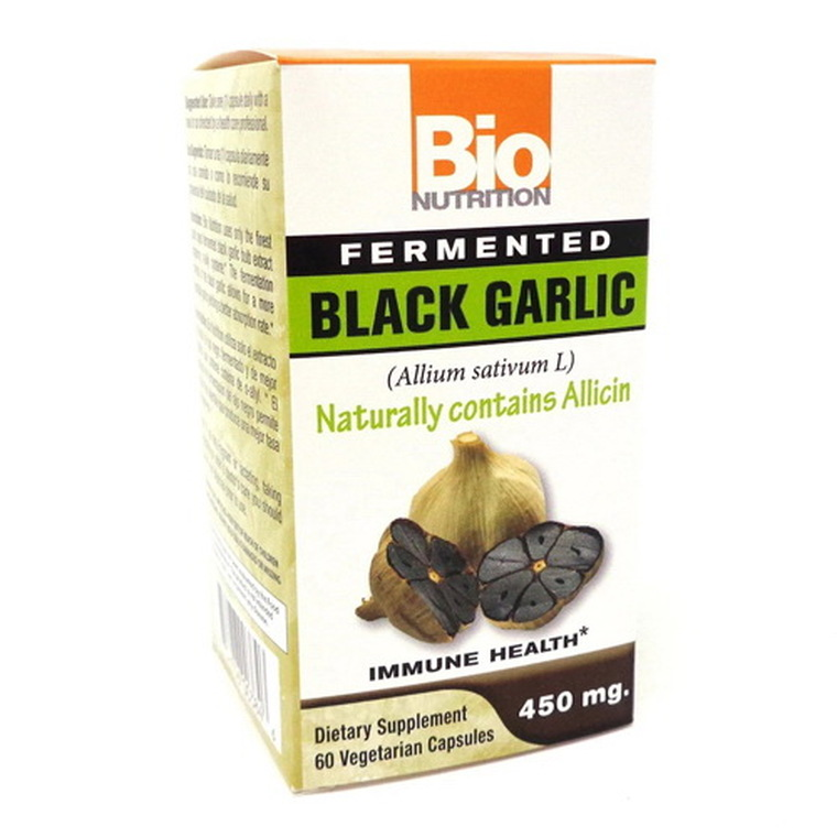 Bio Nutrition Fermented black Garlic Vegetarian Capsules, 60 Ea