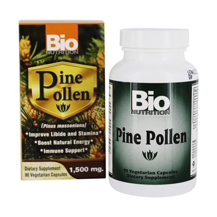 Bio Nutrition Pine Pollen Immune Support 1500 mg Vegetarian Capsules, 90 Ea