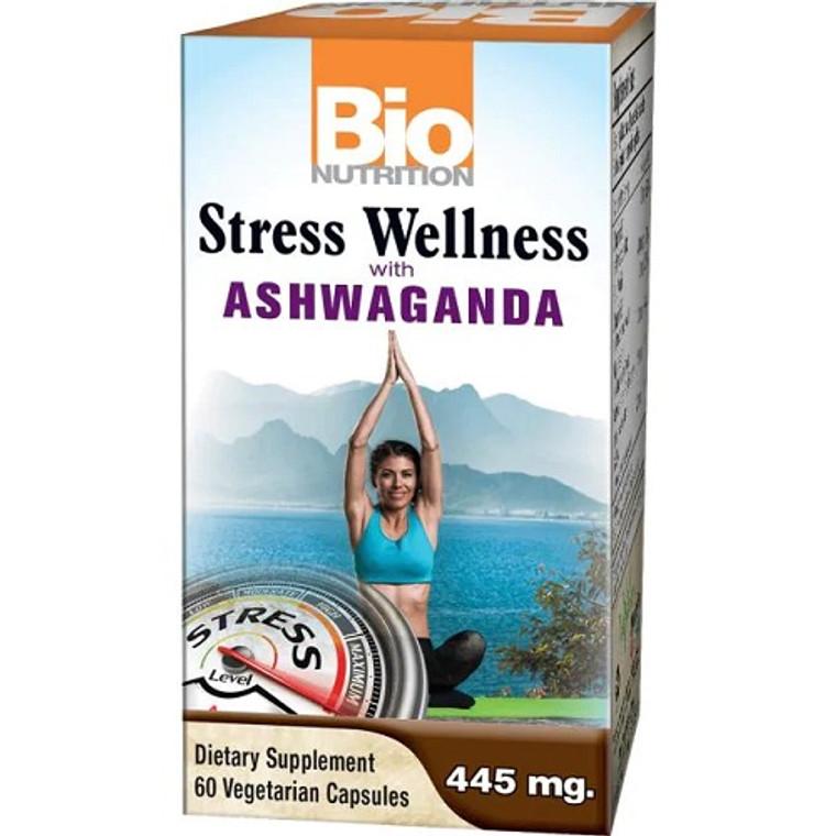 Bio Nutrition Stress Wellness with Ashwaganda Vegetarian Capsules, 60 Ea