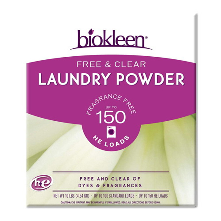 Biokleen Free and Clear Laundry Detergent, 10 lbs