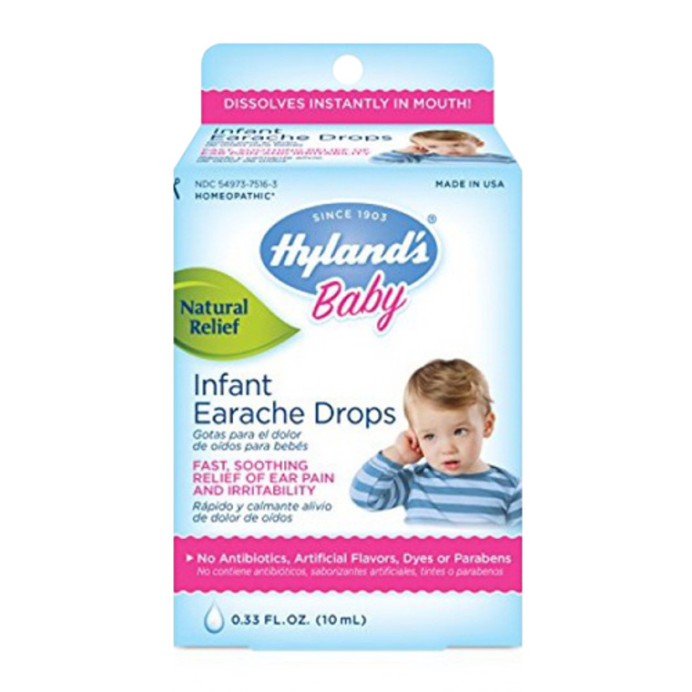 Hylands Baby Homeopathic Earache Drops - 0.33 Oz