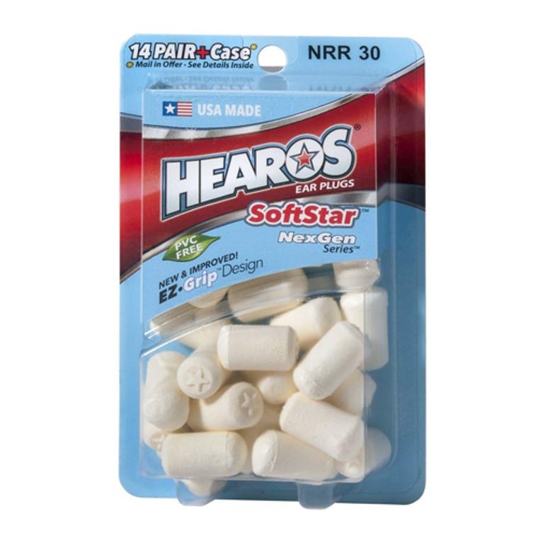 Hearos Softstar Foam NexGen Series Ear Plugs, 14 Pairs