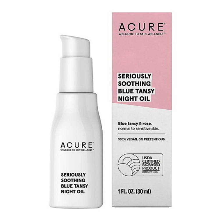 Acure Seriously Soothing Blue Tansy Night Oil, 1 Oz