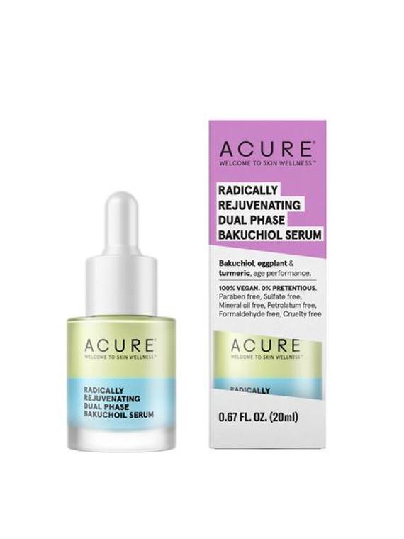 Acure Radically Rejuvenating Dual Phase Bakuchiol Serum, 0.67 Oz