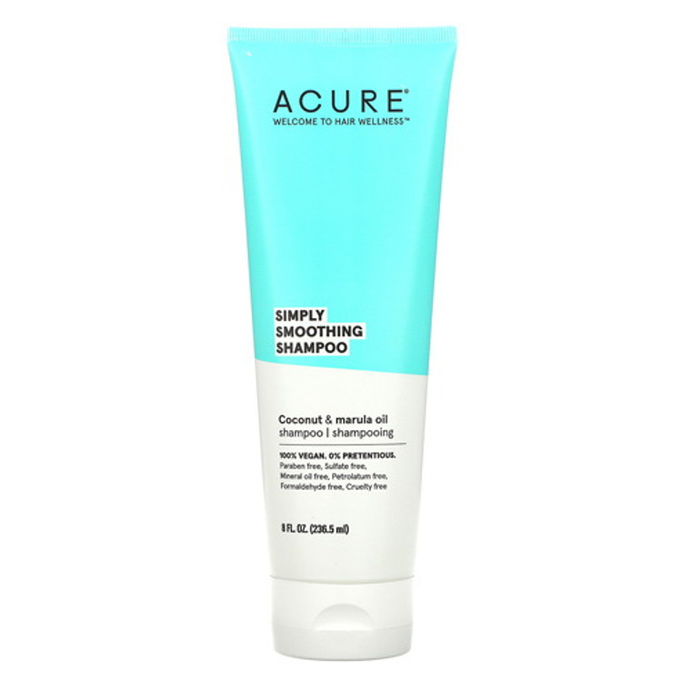 Acure Simply Smoothing Shampoo, 8 Oz