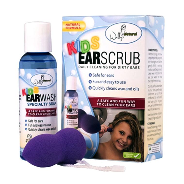 wallys natural Kids Ear Scrub with Sponge Kit, 1 Ea