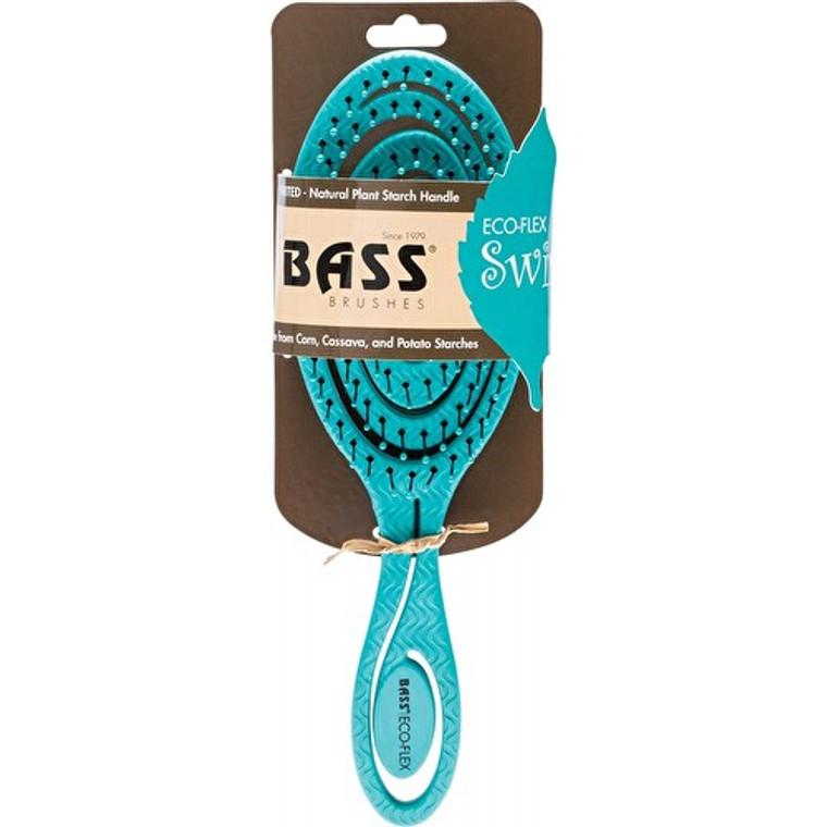Bass Brushes Eco Flex Detangler Teal Swirl Hair Brush, 1 Ea