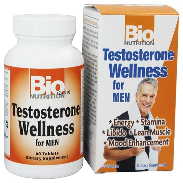 Bio Nutrition Testosterone Wellness for Men Tablets, 60 Ea