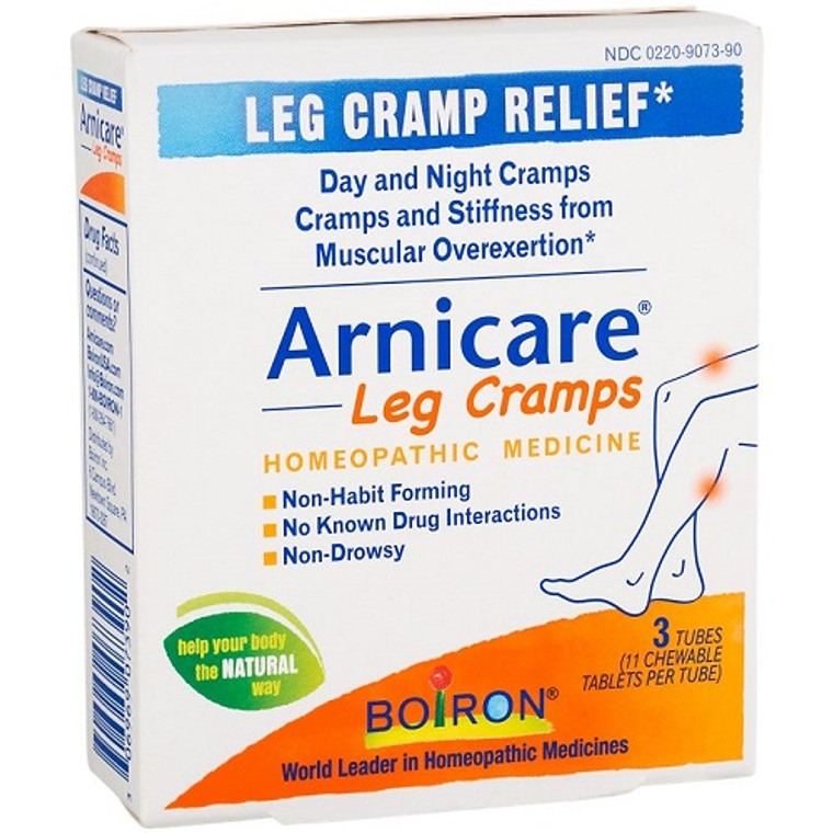 Boiron Arnicare Leg Cramps Homeopathic Medicine Chewable Tablets for Pain Relief, 33 Ea