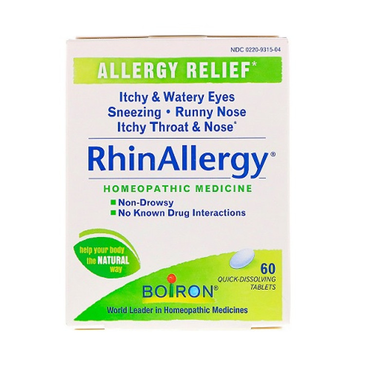 Boiron RhinAllergy Homeopathic Allergy Relief Quick Dissolving Tablets, 60 Ea