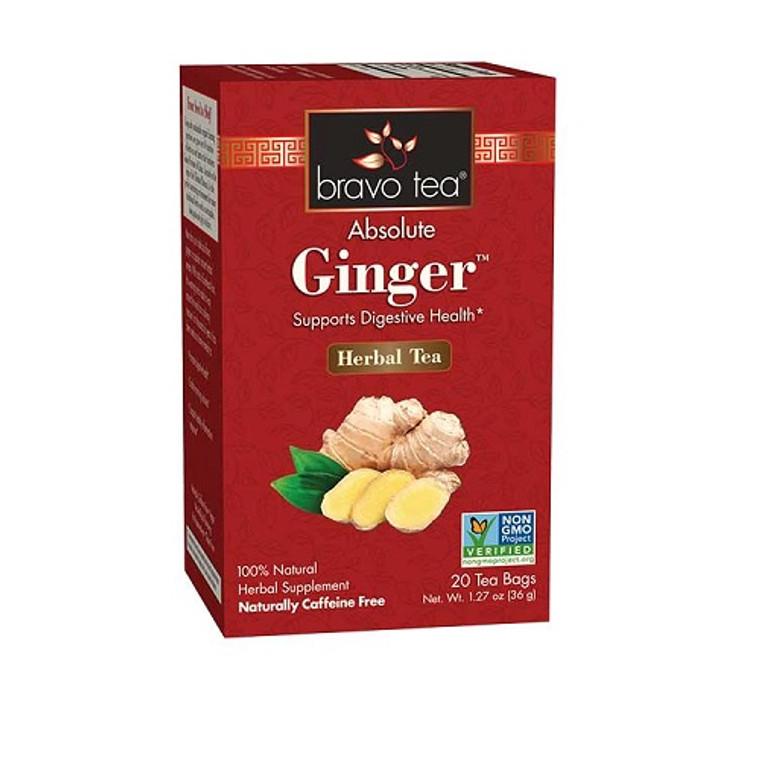Bravo Tea Absolute Ginger Herbal Tea Bags, 20 Ea