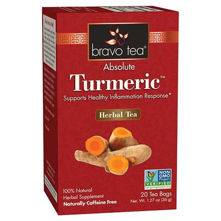 Bravo Tea Absolute Tumeric Herbal Tea Bags, 20 Ea