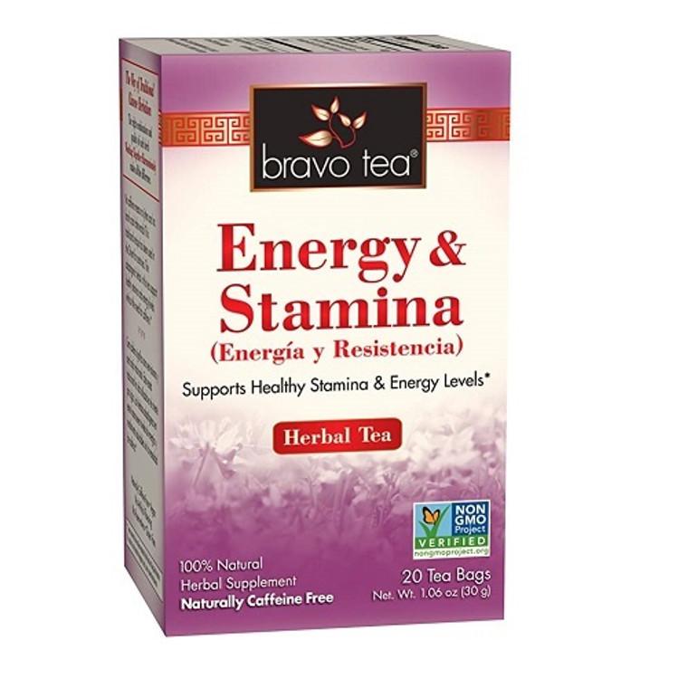 Bravo Tea Energy and Stamina Herbal Tea Bags, 20 Ea