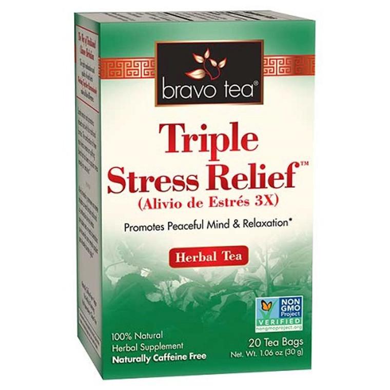Bravo Tea Triple Stress Relief Herbal Tea Bags, 20 Ea