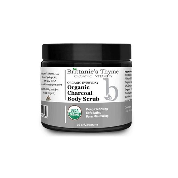 Brittanies Thyme Organic Charcoal Body Scrub, 10 Oz