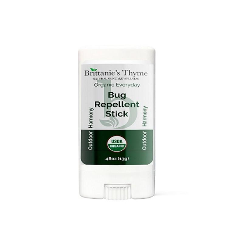 Brittanies Thyme Natural Skin Wellness Organic Everyday Bug Repellent Stick, 0.48 Oz