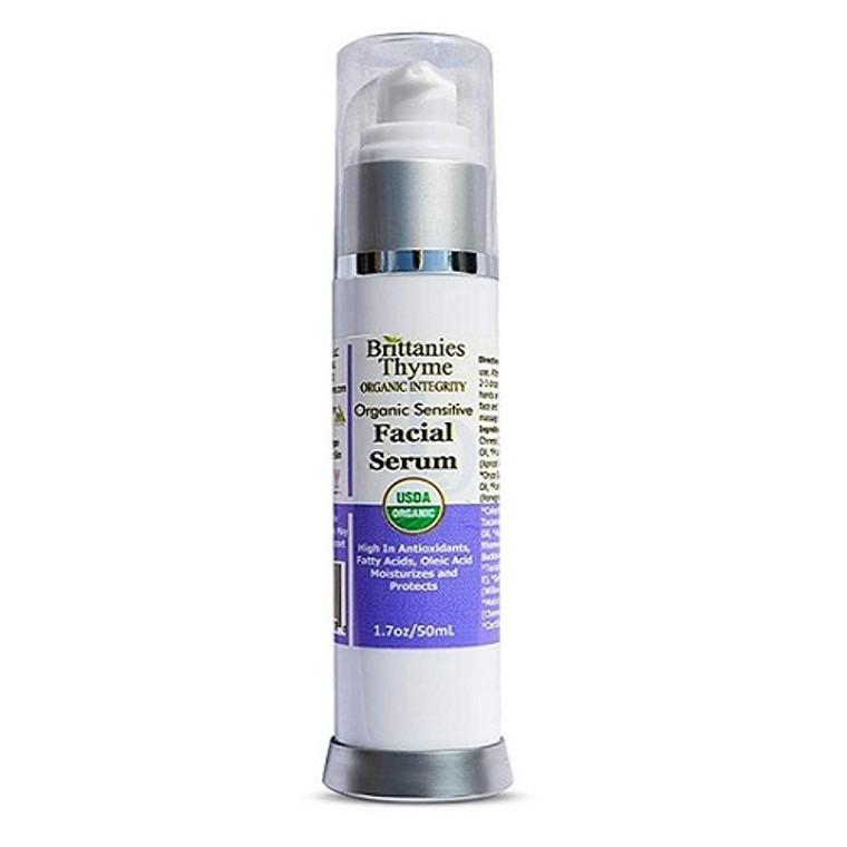 Brittanies Thyme Organic Intergity Organic Sensitive Facial Serum, 1.7 Oz