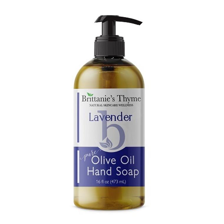 Brittanies Thyme Organic Lavender Pure Olive Oil Liquid Hand Soap, 16 Oz