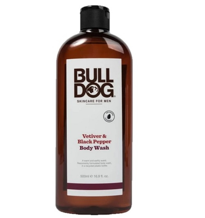 Bulldog Skincare for Men Vetiver And Black Pepper Body Wash, 16.9 Oz