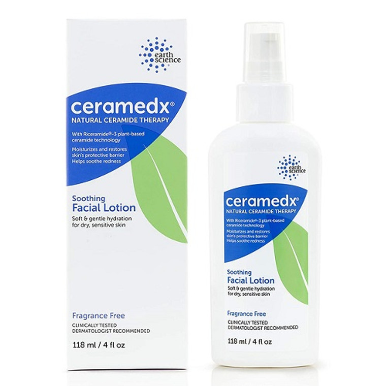 Ceramedx Natural Ceramide Therapy Soothing Facial Lotion, 4 Oz