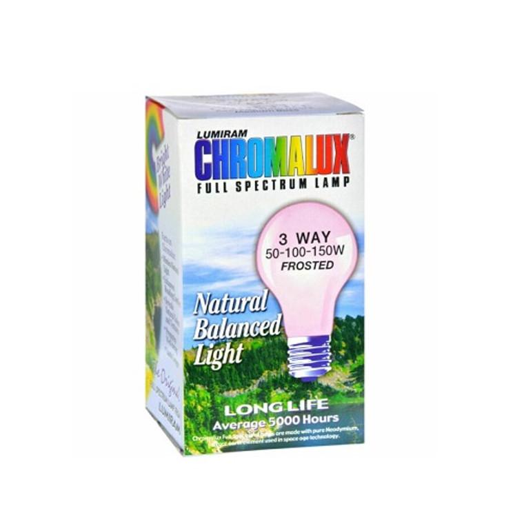 Chromalux Lumiram Full Spectrum 3 Way 50-100-150W Frosted Lamp Natural Balanced Light, 1 Ea